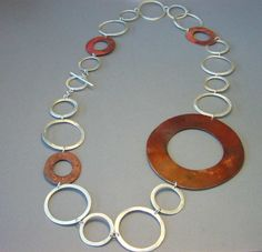 Dring giant necklace modern contemporary jewelry by 2212jewelry, $190.00