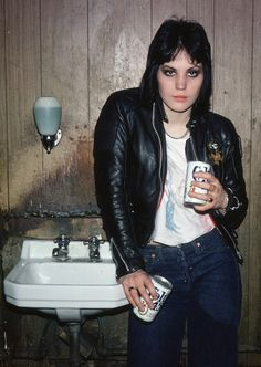 Joan Jett photographed by Marcia Resnick, 1978