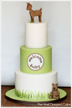 A simple amazing cake idea for woodland baby shower #HalfBaked