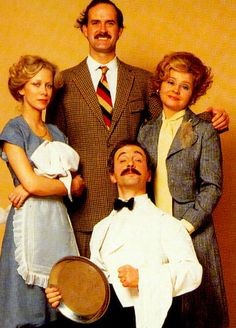 "The ""Fawlty Towers"" series that was on BBC TV just makes me laugh so hard I cry. British Tv Comedies, Classic Comedies, British Comedy, Great Tv Shows, Old Tv Shows, Movies And Tv Shows, Comedy Tv, Comedy Show, V Drama"