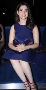 Photos: Tamannaah Bhatia Show Hot Legs in Blue Dress