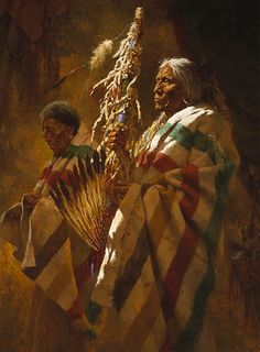 THUNDERPIPE AND THE HOLY MAN By Howard Terpning