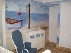 Love the hand painted wall by Patricia Alvarez from houzz