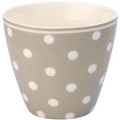 GreenGate Lattekopp - Latte Cup - Naomi Beige Latte Cups, Kitchen Accessories, Beige, Canning, Tableware, Green, Kitchen Fixtures, Dinnerware, Tablewares