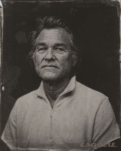 Kurt Russell in a tintype portrait taken by Victoria Will during the 2014 Sundance Film Festival Celebrity Photography, Celebrity Portraits, Portrait Photography, Artistic Photography, Fashion Photography, Modeling Photography, Male Portraits, Fashion Portraits, Glamour Photography