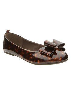 tortoise bow flat...I NEED these!