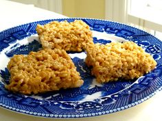 My recipe is much more simple... melt caramel candy squares in a pan with butter, then add the rice krispies cereal. take a dollop out at a time to make a square or ball shape. Place in freezer to adhere. Enjoy!
