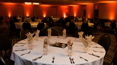 Amber Uplighting adds a great glow to any ballroom.