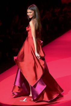 Zendaya walks the runway during the Go Red For Women fall 2015 fashion show in New York. Click for more.