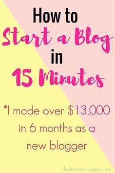 Starting a blog is the best side hustle I have ever done to earn extra money! I was able to set up and start a blog for really cheap and then I made over $13,000 in less than six months as a new blogger.