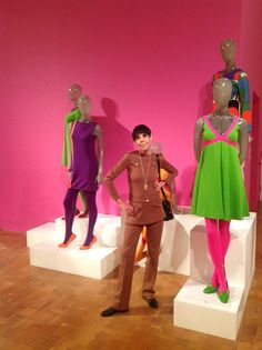 Rudi Gernreich: a designer known for startling garments, and no bras in the 60s. She is also well known for her sporting clothing.