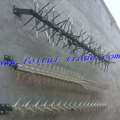 Anti Climb Security Spikes For Chain Link Fencing Topping