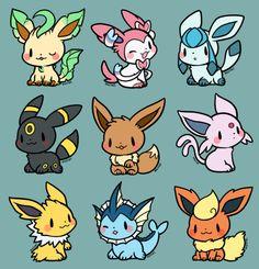 eevee family by huiro on DeviantArt Cute Animal Drawings, Kawaii Drawings, Cute Drawings, Eevee Cute, Pokemon Eevee Evolutions, Pokemon Mignon, Photo Pokémon, Cute Pokemon Wallpaper, Eevee Wallpaper
