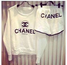 CHANEL graphic shorts ALL Sizes AVAILABLE by queendenim on Etsy, $52.00