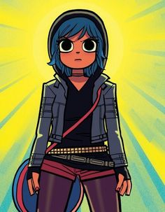 Ramona Flowers is referenced some how in most of my drawings.