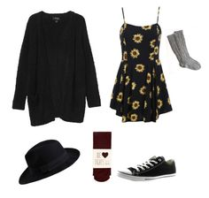 """""""Violet Harmon"""" by mysticmaximoff ❤ liked on Polyvore featuring Converse, Monki, Oasis and Pieces"""