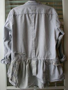 oversize men's shirt upcycle back