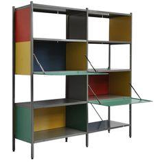 Wim Rietveld, son of Gerrit Rietveld. 663 Gispen bookcase unit