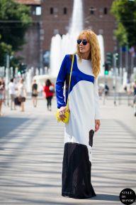 STYLE DU MONDE / Milan Men's SS16 Street Style: Elina Halimi  // #Fashion, #FashionBlog, #FashionBlogger, #Ootd, #OutfitOfTheDay, #StreetStyle, #Style
