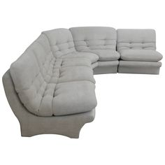 Low Slung 1970s Style Sectional Sofa