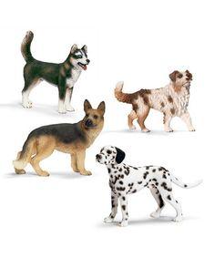 Another great find on #zulily! Four-Piece Dog Figurine Set #zulilyfinds