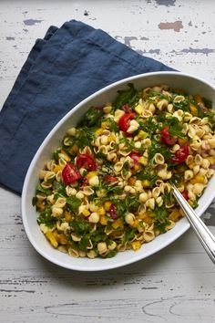 Add some fresh herbs to this Simple Vegetarian Pasta Salad if you like – slivered basil, oregano, thyme – all would be good.