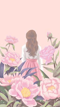 57 trendy ideas for art drawings girl korean Animes Wallpapers, Cute Wallpapers, Wallpaper Backgrounds, Korean Illustration, Illustration Girl, Walpapper Tumblr, Lovely Girl Image, Cute Girl Wallpaper, Girly Pictures