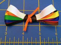 Tae Kwon Do Karate Kid Girl Bow with all Belt Colors - for Lizi