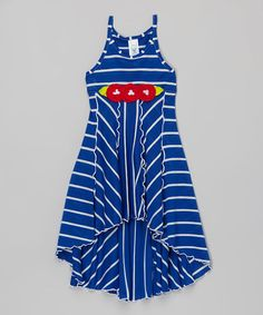 Another great find on #zulily! Royal Stripe Hi-Low Dress - Toddler & Girls by Mulberribush #zulilyfinds