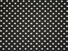 Small White Polka Dots on Black Cotton Lycra Knit Jersey Fabric