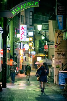"tokyo-fashion: "" Another rainy night in Harajuku. """