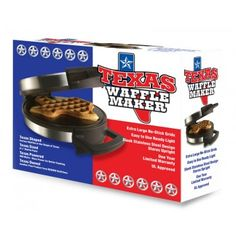 Texas Shaped Waffle maker. Although, I would like to find a rotating version like the one I saw in an Austin hotel.