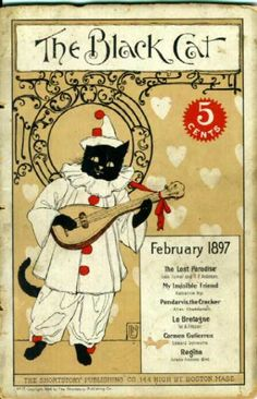 This literary monthly produced great covers with cats - obviously black cats!