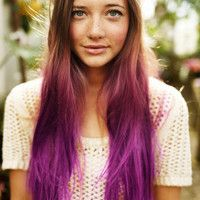 Hair Chalk - Temporary Hair Color. Neat idea for a day or two. Relatively quick, inexpensive and easy!