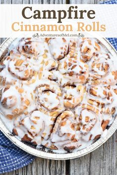 Two simple and easy ways to make the best cinnamon rolls for camping. Bake them . Two simple and easy ways to make the best cinnamon rolls for camping. Bake them over the campfire or on the grill, using either a Dutch oven or a pie iron. Best Cinnamon Rolls, Easy Camping Breakfast, Breakfast Recipes, Dessert Recipes, Desserts, Breakfast Pie, Dessert Food, Camping Meals, Cooking