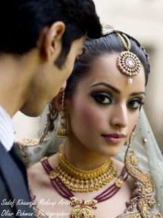 indian bridal makeup-- a little heavy on the blush for my taste but love the eyes