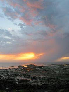 orage et coucher de soleil en Cote Opale Daniele Libert