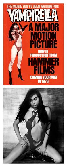 """Proposed """"Vampirella"""" movie for Hammer Films in 1976 with Valerie Leon suggested for the role."""