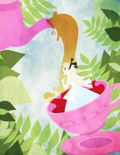 Alice In Wonderland  A small series of posters based on Mary Blair's concept art for Disney's Alice in Wonderland