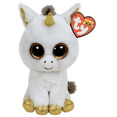 Ty Beanie Boo Buddy Plush Pegasus the Unicorn by Beanie Boos. Ty Beanie Boo Buddy Plush Pegasus the Unicorn Ty Beanie Boos, Beanie Babies, Plush Dolls, Doll Toys, Ty Peluche, Pegasus, Boo And Buddy, Ty Toys, Unicorn Cat