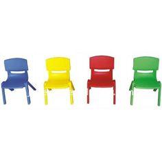 Sillas Escolares De Colores Apilables En Plástico 32x55cm - $ 175.00 en MercadoLibre