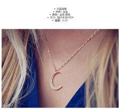 Bohemian Dreamcatcher Lune Rehinestone long Multilayer collier pendentif
