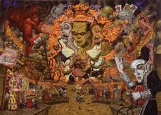 I love how much detail goes into Todd Schorr's paintings. So much to see and interpret.