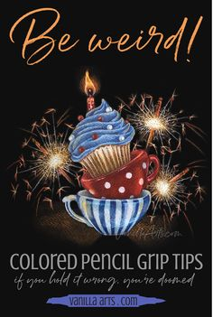 Colored Pencil: 6 Easy Tips- Improve your Grip for Better Coloring — Vanilla Arts Co. Drawing Techniques Pencil, Pencil Sketch Drawing, Colored Pencil Techniques, Pencil Drawings, Drawing Art, Drawing Tips, Painting Techniques, Drawing Stuff, Coloring Tips