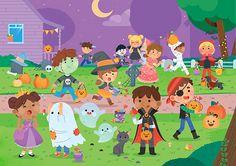 Cute Halloween Illustration #Halloween #Cute #Childrenillustration #PamelaBarbieri