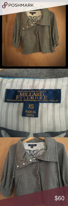 Cropped 3/4 sleeved jacket Millard Fillmore grey cropped 3/4 sleeve jacket Millard Fillmore Jackets & Coats