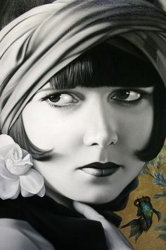 Louise Brooks  by Christiane Vleugels