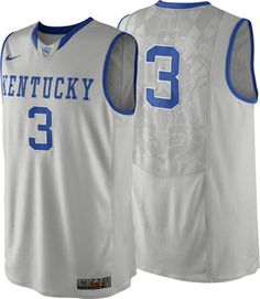 Kentucky Wildcats Grey Nike On-Court Basketball Jersey