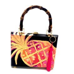 Altered Cigar Boxes, Black Canvas, Make And Sell, Black Suede, Pineapple, Shoulder Bag, 3d, Purses, Things To Sell