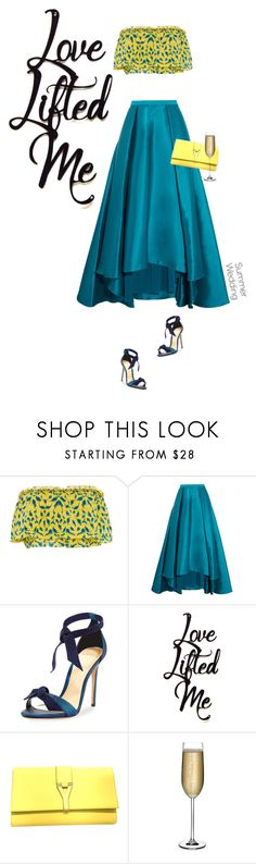 """""""Love Lifted Me"""" by mimas-style ❤ liked on Polyvore featuring Tanya Taylor, Badgley Mischka, Alexandre Birman, Yves Saint Laurent and Nude"""